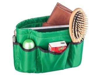 Purse insert ORGANIZER SHAPER / STURDY /2 Sizes Available / Purse Organizer /Green leaves/Bag organizer/Bag insert