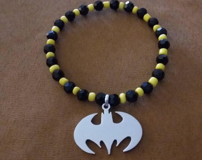 Featured listing image: Batman Inspired Stretch Bracelet