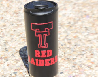 Red Raiders coffe   tumbler, travel coffee mug, vacuum tumbler, 160z coffee tumbler