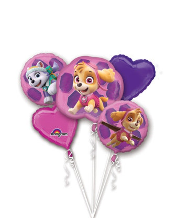 Paw Patrol 5 Pc Balloon Bouquet Paw Patrol Birthday