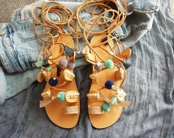 Leather sandals, Greek sandals, Boho sandals, Gladiator, Lace up sandals, Summer shoes, Gladiator sandals, Greek leather Sandals