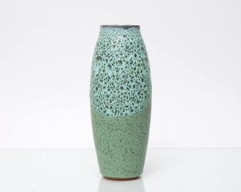 RÖMHILD GRAMANN Vase Mid Century Studio Ceramic GDR East Germany Vintage Green Turquoise