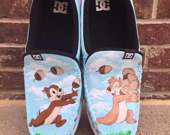 Chip and Dale painted shoes