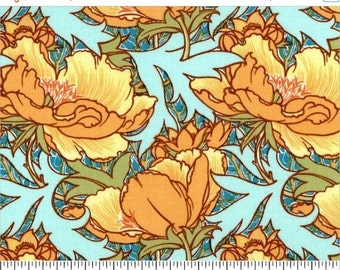 """Vintage Florals """"Flourish""""  Azure by Victoria and Albert from Westminster Fabrics Remnant"""