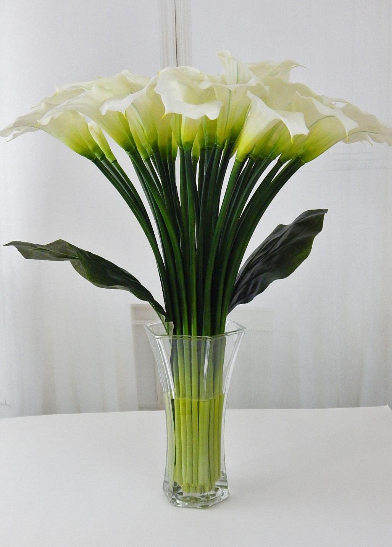 Largetall silk modern floral arrangement calla lilylilies gallery photo gallery photo dhlflorist Images
