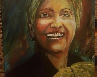 Hillary Clinton Acyrlic Painting 20 × 16 hand painted