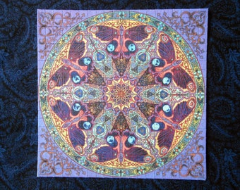 "Blotter Art ""Butterfly Mandala"" Psychedelic Acid Art Collection Perforated Paper"