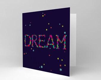 Dream Card - Positive Friend Colourful Night Sky Blank Greetings Birthday Card Cs323