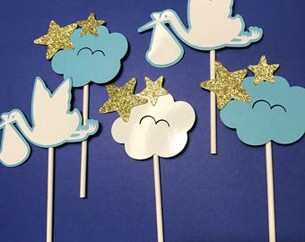 12 Cloud Cupcake Toppers