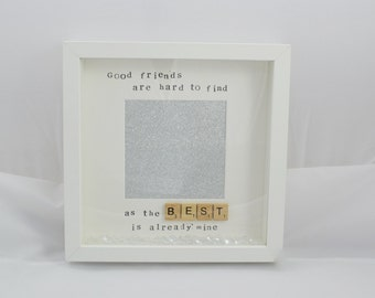Best friends photo frame- BFFF gift- special Christmas present- butterfly frame- sparkly photo frame