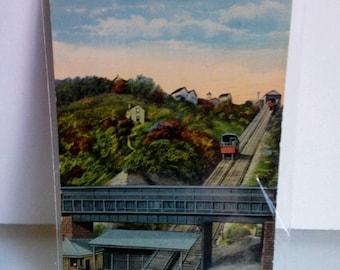 Castle Shannon Incline Pittsburgh Vintage Postcard