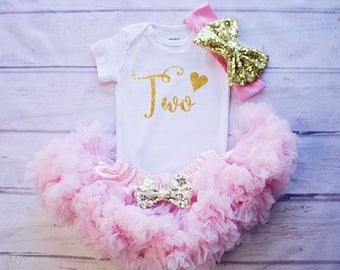 2nd Birthday Outfit, Baby Girl Clothing, Cake Smash Outfit, Second Birthday Shirt, Birthday Outfit, Baby Girl Birthday Clothing, Cake Smash