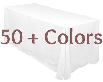 60x108 Rectangular Table Cloth ,Tablecloth,Black Tablecloths,White  Tablecloths,Party Tablecloth,
