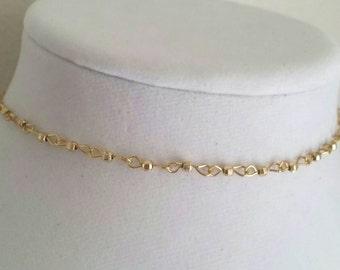Delicate Gold Choker
