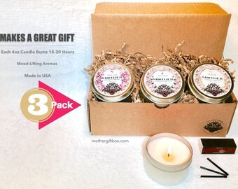 Soy candle trio set.