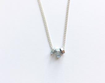 Hex nut necklace (plain)