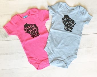 PINK Made in Wisconsin Bodysuit 0-3 months - Sale!!
