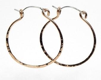 Davie Bronze Hoop Earrings with Sterling Silver Ear Wire