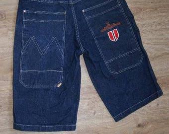 Dada Supreme jeans shorts, vintage Damani baggy jeans, 90s hip-hop clothing, 1990s hip hop shirt, OG, gangsta rap, size W 34