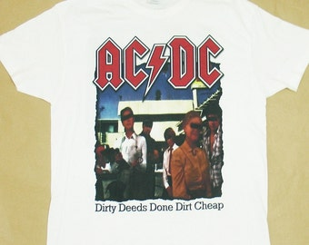AC / DC, Dirty Deeds Done Dirt Cheap, T-shirt 100% Cotton
