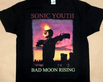 Sonic Youth Bad Moon Rising, T-shirt 100% Cotton