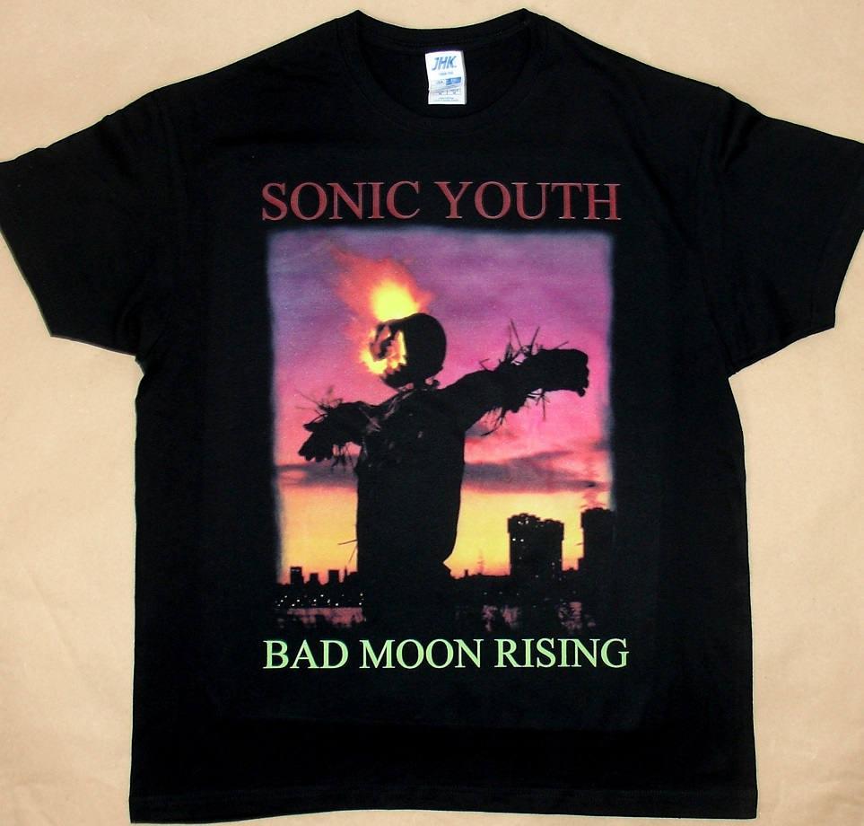 Youth black t shirt - Sonic Youth Bad Moon Rising T Shirt 100 Cotton