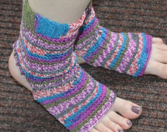 Spring Fling Crocheted Yoga/Pilates/Dance/Pedicure/Flip Flop Socks (Average Size) Made To Order