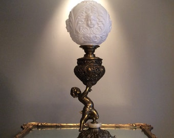 Cherub Gone with The Wind Parlor Lamp