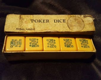 Vintage Poker Dice Set