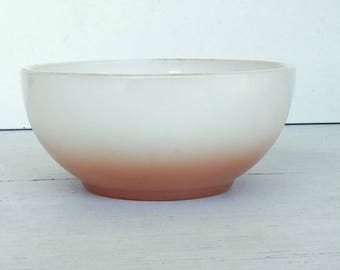 Fireking Chili two tone bowl VERY RARE  1951-1960 Fireking soup bowl cereal Fireking overware over safe bowl collector item