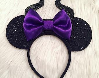 Maleficent Inspired Mouse Ears * Disney Villain