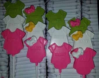 1 Dozen Chocolate Onesie Lollipops!