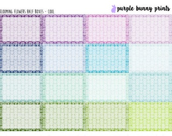 Blooming Flowers Half Boxes // Planner Stickers!