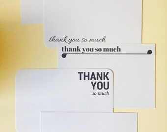 Thank you cards - Minimalist - Postcards - Pack of 10