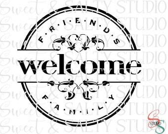 friends and family welcome digital file