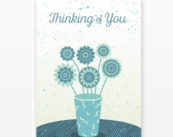 Thinking of You Card Set | 5 Blank Cards
