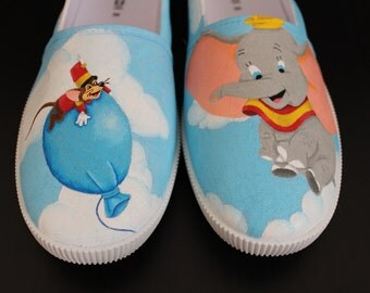 Dumbo Hand-Painted Canvas Shoes
