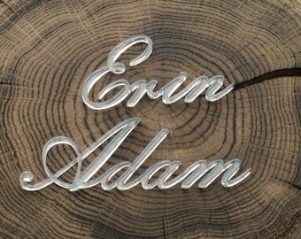 Laser cut names, Set of wedding place cards, wedding table signs,  place cards, name cards, name cards wedding