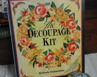 Decoupage book,the decoupage kit book,how to decoupage book,book on decoupage,Belinda Ballantine decoupage book,vintage decoupage book,book