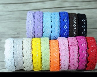 colored lace ribbons