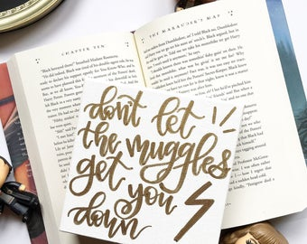 Harry Potter Canvas // Harry Potter Sign // Harry Potter Quote // Dont Let The Muggles Get You Down // Ron Weasley Quotes