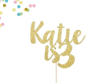 Personalized Birthday Cake Topper | Age Cake Topper | Birthday Party Decor | Birthday Cake Topper | Kids Birthday | Custom Birthday Topper