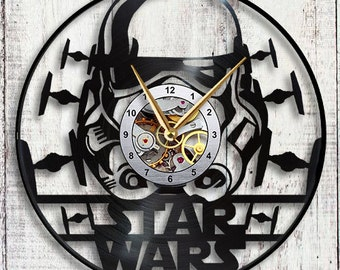 Star Wars Clone Helmet Vinyl LP Record Wall Clock