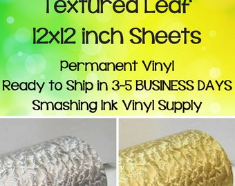Textured Leaf Vinyl/Specialty Vinyl/Gold Foil Vinyl/Silver Foil Vinyl/Gold Texture Vinyl/Leaf Texture Vinyl/Metallic Foil Vinyl/Gold Leaf