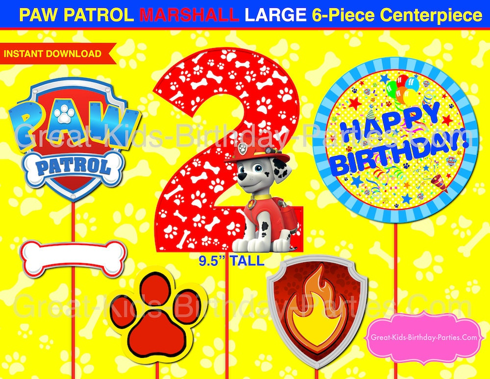 Crazy image within paw patrol printable decorations
