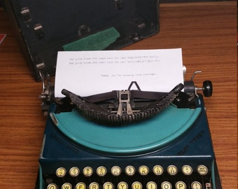 1928 Remington Portable #2 typewriter with case - working condition!
