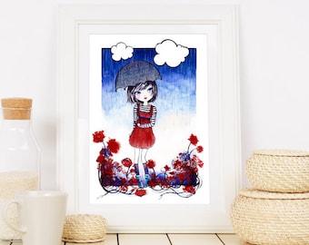 Rain - digital illustration