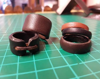 Customized Leather Cover for Metal Ring