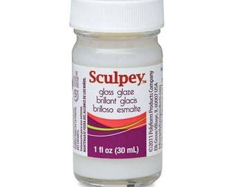 SCULPEY GLOSS Glaze Sealer for Polymer Clay 1 oz Sculpting