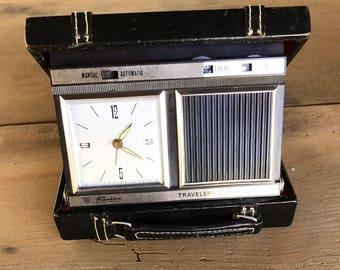 Vintage Travelers Alarm Clock Radio Portable Franklin